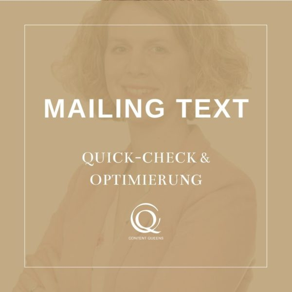 Content Queens Global: Mailing Text