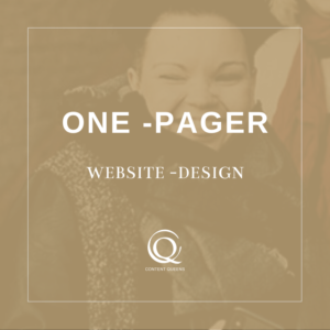 Content Queens Global: One Pager Website